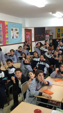 Dental health, visit to the schools of Inca and Sant Joan