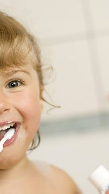 Children's dental cleaning