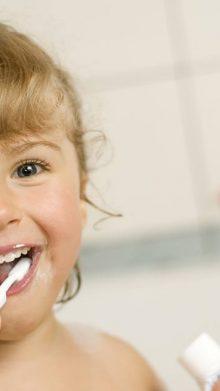 Children's dental cleaning