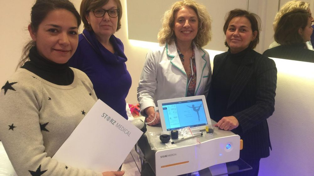 The Censalud team attended the Storz shock wave training course